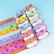 <b>10PCS</b> Kawaii <b>Glitter Washi Tape</b> Decorative Scrapbooking Card ...