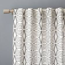 inspired kitchen cdab white brown: cotton canvas diamond stripe curtain stone white slate west elm