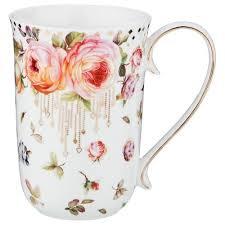 <b>Кружка Lefard</b>, <b>Розы</b>, 500 мл, белый купить в интернет-магазине ...