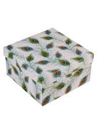 <b>Подарочная коробка</b> «<b>Перо павлина</b>», большая. «Читай-город»