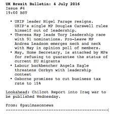 TwitterLog     Jul     lt  Twitter CFCL Wiki so you know  RT  paulmasonnews  Brexit Bulletin