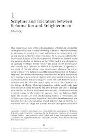 scripture and toleration between reformation and enlightenment inside