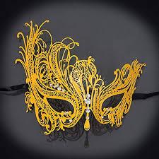 New Women Swan Metal Mask Venetian Style ... - Amazon.com