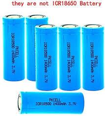 18500 li-ion <b>Battery</b> 3.7V <b>1400Mah</b> ICR18500 Lithium Rechargeable...
