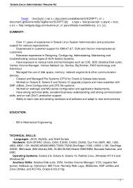 solaris linux administrator resume nj