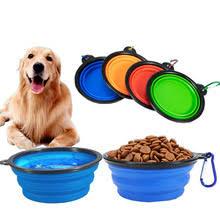 1000 мл <b>Складная</b> Силиконовая <b>миска</b> для собак, портативная ...