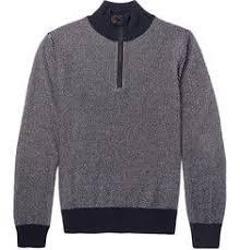 Berluti Slim-Fit <b>Half</b>-Zip <b>Leather</b>-Trimmed Cashmere Sweater (With ...