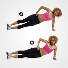Image result for woman plank hip twist workout