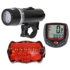 Bicycle Speedometer + 5 LED Mountain Bike Cycling Light ... - Vova
