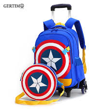 <b>New Primary School Trolley</b> Bags Captain America Children Anime ...