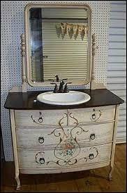 hand painted bathroom vanities