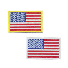 <b>American Flag Embroidery</b> Badge Gold Border United States Military ...