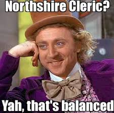 Meme Maker - Northshire Cleric? Yah, that's balanced. Meme Maker! via Relatably.com