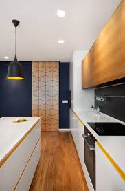 kitchen island integrated handles arthena varenna: a mid century inspired apartment with modern geometric accents