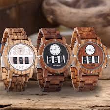 <b>Shifenmei Wood Men</b> Watch Digital WristWatches Chronograph ...