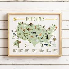 Kids National <b>Park</b> Map, Printable JPG files, National <b>Park</b> Maps, 4 ...