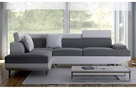 Scoop Convertible 4-Seater Right-Angle <b>Corner Sofa Bed</b>, <b>Synthetic</b> ...