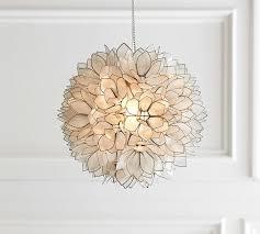 capiz pendant pottery barn capiz lighting fixtures