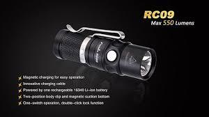 Компактный <b>Фонарь Fenix RC09</b> Cree XM-L2 U2 LED с магнитной ...
