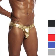 2019 <b>Snake Skin</b> PU Leather <b>Men Briefs</b> Bikini Sexy U Convex Gay ...