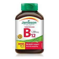Jamieson Laboratories Jamieson <b>Vitamin B12</b> 1,200 Mcg <b>Timed</b> ...