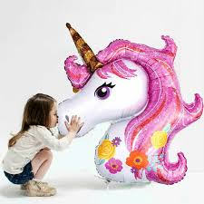 10pcs/lot 18inch <b>unicorn</b> round <b>foil helium balloon</b> for <b>unicorn</b> theme ...