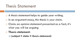 argument essay requirements  essay writing prompt   the civil    thesis statement  a thesis statement helps to guide your writing   in an argument