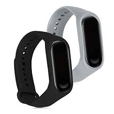 kwmobile Silicone Watch Strap for Xiaomi Mi Band 3 ... - Amazon.com