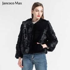 <b>Jancoco Max 2019</b> New Winter Real Rabbit Fur Jacket Warm Soft ...