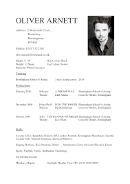 cv template beginners acting resume template word actors resume template word
