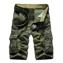 cargo shorts men summer cotton casual short pants brand clothing military trousers male loose