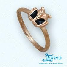 Детское золотое <b>кольцо Сова с эмалью</b> Т15001914 цена 4 670 ...