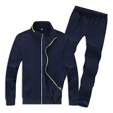 mens <b>casual plus size</b> solid color tracksuits stand collar <b>cotton</b> sport ...