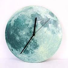AKAHA Wall Clock - Glowing Moon Luminous ... - Amazon.com