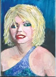 Debbie - ink, gouache and <b>brushed</b> charcoal | Art, Visual art, Painting