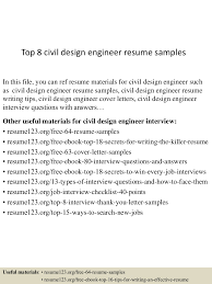 top8civildesignengineerresumesamples 150516091536 lva1 app6891 thumbnail 4 jpg cb 1431767783