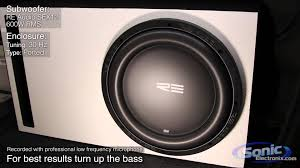 RE Audio 12 SEX Subwoofer Bass Demo SEX12D4 in a Custom Ported.