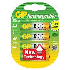<b>Аккумулятор ni-mh 1800 ма</b>·<b>ч</b> gp rechargeable 1800 series aa — 1 ...