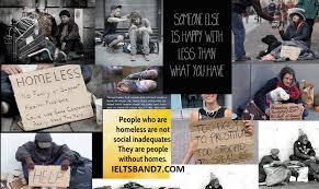 ielts essay  homeless people   ielts band  homeless people