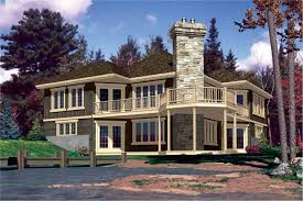 Lakefront Home Plans   Home Design      middot  This is the rear elevation for these Lakefront House Plans