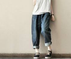 <b>Vintage</b> blue pants <b>summer</b> loose <b>Cowboys</b> trousers | tOps ...