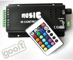 new music led ir remote controller rgb sound sensitive music color changer indoor accent lighting led strip light rgb spotlight accent lighting type
