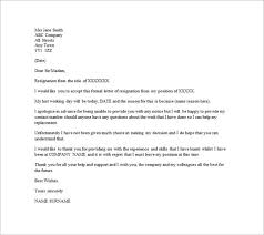 email resignation letter templates – free sample  example    example of email resignation letter without notice period