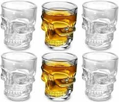 TDS (Pack of 6) <b>Skull</b> Shape Whiskey <b>Glass Glass</b> Set Price in India ...