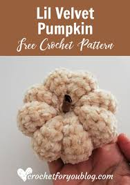 Crochet Lil <b>Velvet</b> Pumpkin Free <b>Pattern</b> | Crochet pumpkin, <b>Velvet</b> ...