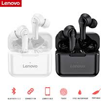 Original <b>Lenovo QT82 Wireless</b> Bluetooth Headphones V5.0 Touch ...