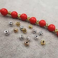 <b>100pcs</b>/lot <b>Designer</b> Polyhedron Small Spacer Beads 3.5mm ...