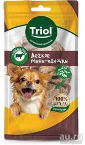 <b>ТРИОЛ</b> для собак мини пород Мини палочки <b>легкое говяжье</b> 30г ...