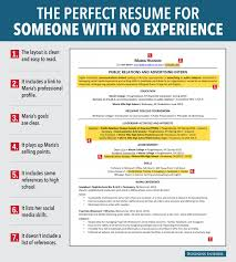 how to create the perfect résumé for someone little to no how to create the perfect résumé for someone little to no experience