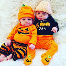 Halloween <b>Newborn Baby</b> Boy Girl Clothes Set Romper Striped Outfit